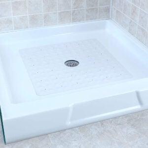 最佳淋浴垫选择:SlipX解决方案白色方形橡胶安全淋浴垫