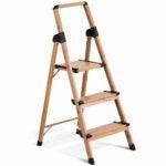 The Best Step Ladder Option: Delxo Lightweight Aluminum Woodgrain 3 Step Ladder