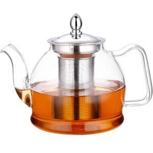 Best Tea Infuser Options: Hiware 1000ml Glass Teapot