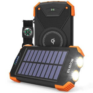 Best Travel Gadgets Options: Solar Power Bank, Qi Portable Charger