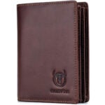 Best Wallets for Men Options: Bullcaptain Large Capacity Genuine Leather Bifold Wallet