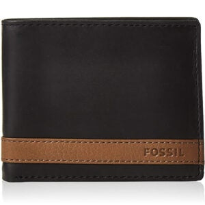 Best Wallets for Men Options: Fossil Men's Quinn Leather Bifold Flip ID Wallet