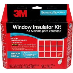 最佳窗口保温套件选项:3M室内1窗绝缘套件
