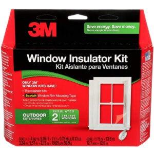 最佳窗体保温套件选项:3M户外2窗体绝缘套件,清晰窗口薄膜