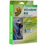 最佳窗户保温套件选项:鸭品牌室内5窗口收缩膜