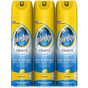 Best Wood Cleaner Options: Pledge Dust & Allergen Multi-Surface Disinfectant Cleaner