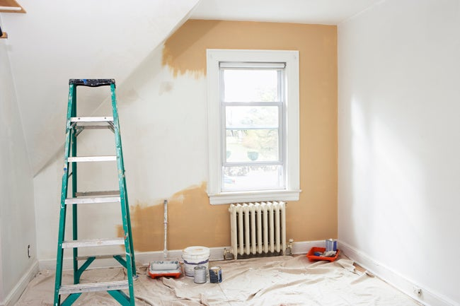 pro painting tip use a drywall knife
