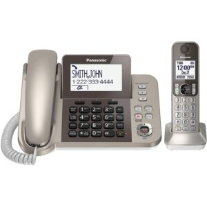 The Best Answering Machine Options: PANASONIC KX-TGF350N Corded _ Cordless Dect 1 Handset
