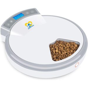 The Best Automatic Cat Feeder Options: Casfuy 5-meals Automatic Cat Feeder - Auto Pet Feeder