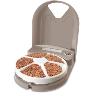 The Best Automatic Cat Feeder Options: PetSafe 5 Meal Automatic Pet Feeder, Cat Dry Food