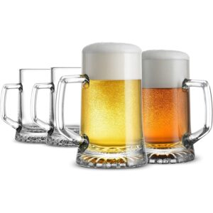 The Best Beer Glasses Options: Bormioli Rocco 4-Pack Solid Heavy Large Beer Glasses