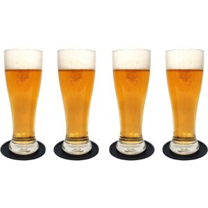 The Best Beer Glasses Options: Brimley Nucleated Pilsner Craft Beer Glasses Set
