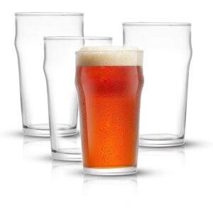 The Best Beer Glasses Options: JoyJolt Grant Pint Glasses Set of 4