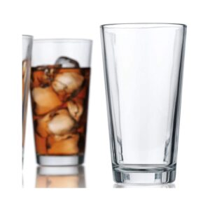 The Best Beer Glasses Options: Le'raze Attractive Highball Glasses Clear Heavy Base