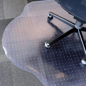 """最佳椅子垫选择:演变现代形状33""""x 44""""清晰的办公室椅子垫"""