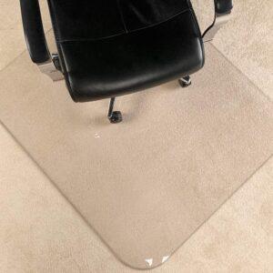 """最佳椅垫选择:MuArts水晶透明1_5""""厚47""""x 40""""椅垫"""
