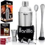 最好的鸡尾酒振动筛选:Barillio Elite Cocktail Shaker Set Bartender套件
