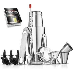 The Best Cocktail Shaker Option: Mixology Bartender Cocktail Shaker Set (15 Piece Set)
