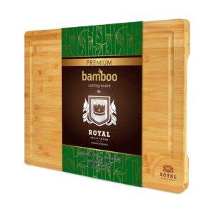 最佳肉菜选项:皇家工艺木材超大竹切割板