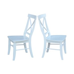 The Best Dining Chairs Option: August Grove Solid Wood Cross Back Chair (Set of 2)