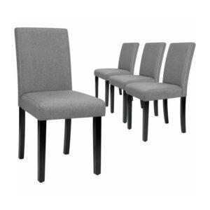 The Best Dining Chairs Option: Latitude Run Fellsburg Linen Upholstered Parsons (4)