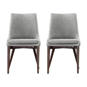 The Best Dining Chairs Option: Mercury Row Blaisdell Linen Upholstered Side Chairs