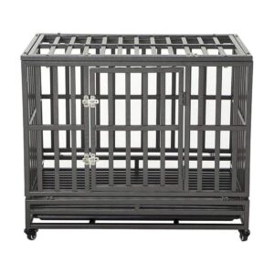 The Best Dog Crate Options: LUCKUP Heavy Duty Dog Crate Strong Metal Kennel