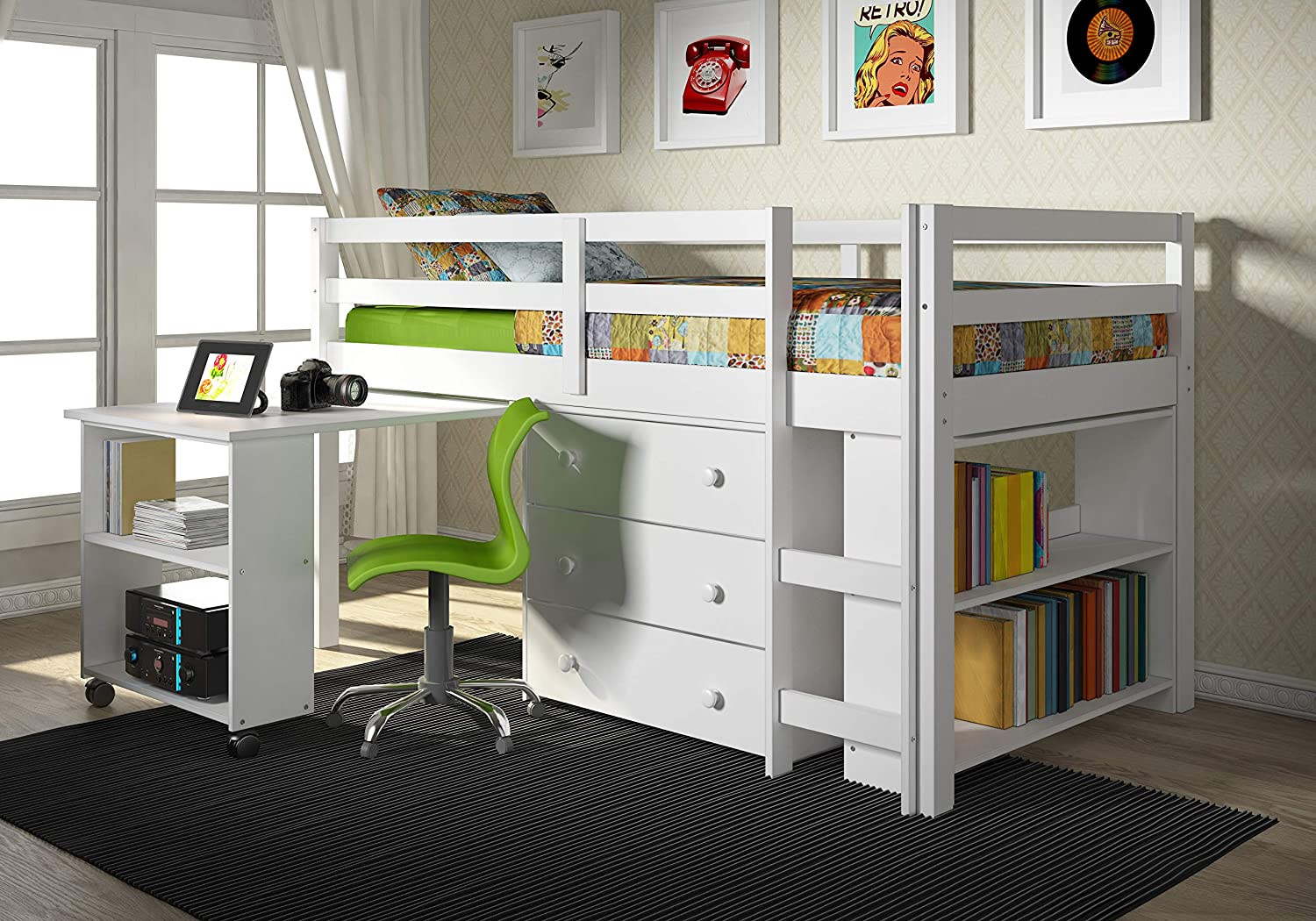 The Best Kids Bed With Desk Options for Saving Space - Bob Vila