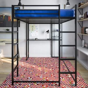 The Best Kids Bed With Desk Option: DHP Abode Loft Bed Metal Frame with Desk and Ladder
