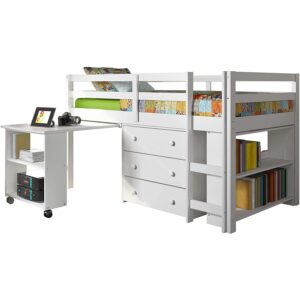 The Best Kids Bed With Desk Option: Donco Kids Low Study Loft Bed