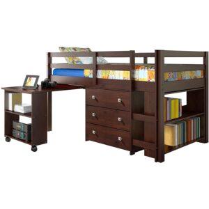 The Best Kids Loft Bed With Desk Option: DONCO Kids Low Study Loft Bed