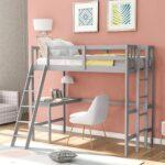 The Best Kids Loft Bed With Desk Option: Harper & Bright Designs Twin Loft Bed with Desk