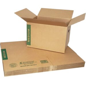 The Best Moving Boxes Options: CHEAP! CHEAP! Moving Boxes with Handles Pack of 10