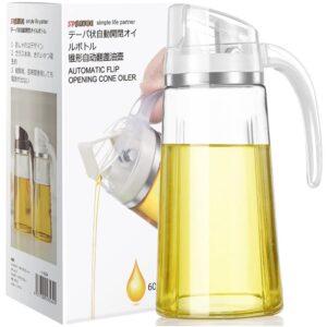The Best Olive Oil Dispensers Option: Marbrasse Auto Flip Olive Oil Dispenser Bottle