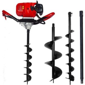 The Best Post Hole Digger Options: ECO LLC 52cc 2.4HP Gas Powered Post Hole Digger
