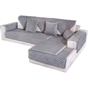 The Best Slipcovers Options: OstepDecor Couch Cover, Quilted Sectional, Velvet