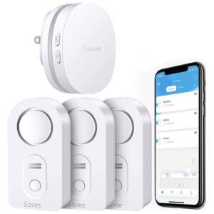 最佳水检漏仪选项:Govee WiFi水传感器3包100dB可调报警