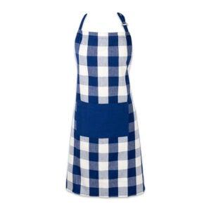 最好的apron选项:Dii棉可调水牛检查格子围裙