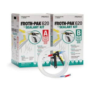The Best Attic Insulation Option: FROTH-PAK 620 Sealant - 2 Component Foam Insulation