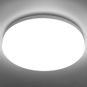 The Best Basement Lighting Options: LE Flush Mount Ceiling Light Fixture Waterproof LED