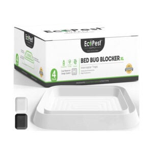 The Best Bed Bug Trap Option: ECOPEST Bed Bug Interceptors - 4 Pack