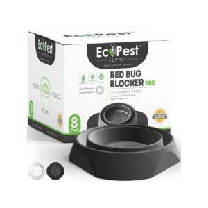 The Best Bed Bug Trap Option: ECOPEST Bed Bug Interceptors - 8 Pack