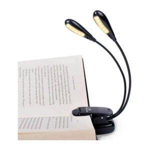 最好的书籍光选项:Vekkia 12 LED可充电书灯