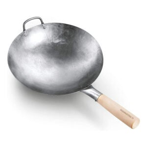 The Best Carbon Steel Wok Option: Mammafong Round Bottom 14-inch Traditional Wok