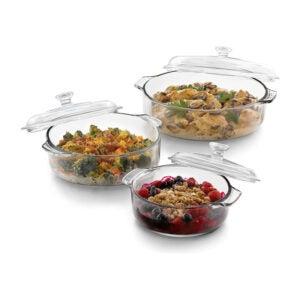 The Best Casserole Dish Option: Libbey Baker's Basics 3-Piece Casserole Dish Set