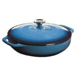 The Best Casserole Dish Option: Lodge 3.6 Quart Enamel Cast Iron Casserole Dish