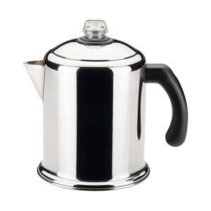 最好的咖啡渗透器选项:Farberware优胜美地不锈钢透射镀8杯