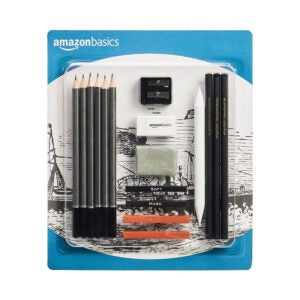 The Best Drawing Pencils Option: Amazon Basics Sketch and Drawing Art Pencil Kit