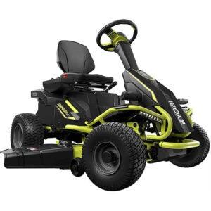 最佳电动割草机选择:Ryobi 38英寸。100ah蓄电池电动后置发动机