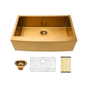 The Best Farmhouse Sink Option: Lordear 36 Farmhouse Sink Gold 36 inch Kitchen Sink